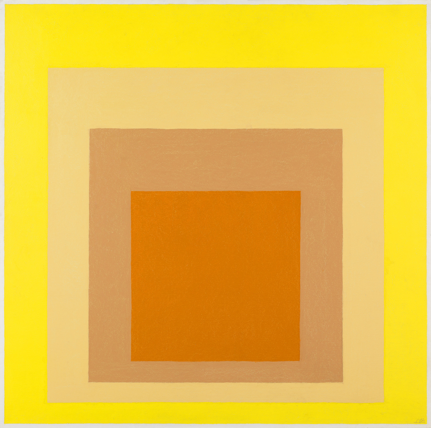 Joseph Albers (1888-1976), Homenage al cuadrado, 1964, Oil on masonite, 100 x 100 cm