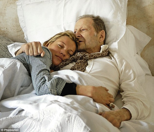 Lucian Freud y Kate Moss, una de sus musas. PH: David Dawson