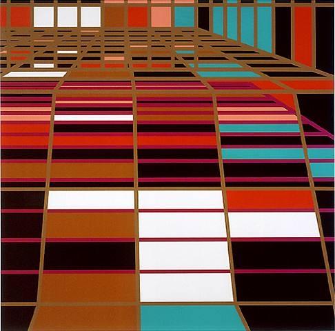 Sarah Morris Pools, Nassau Suite, Miami. De su série inspirada en la ciudad de Miami en 2002
