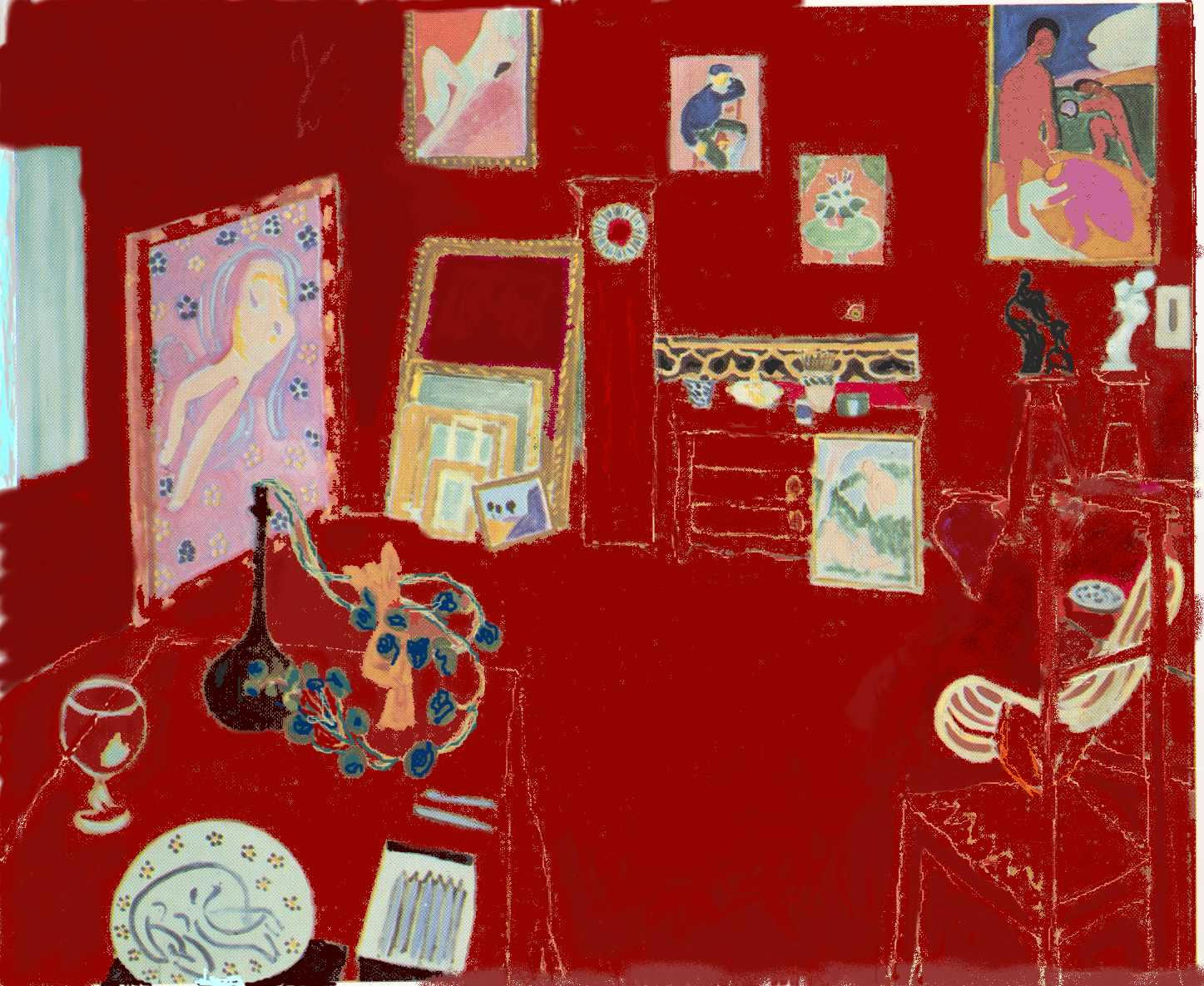 Henri Matisse, The Red Studio, oil on canvas, 1911 (MoMA)