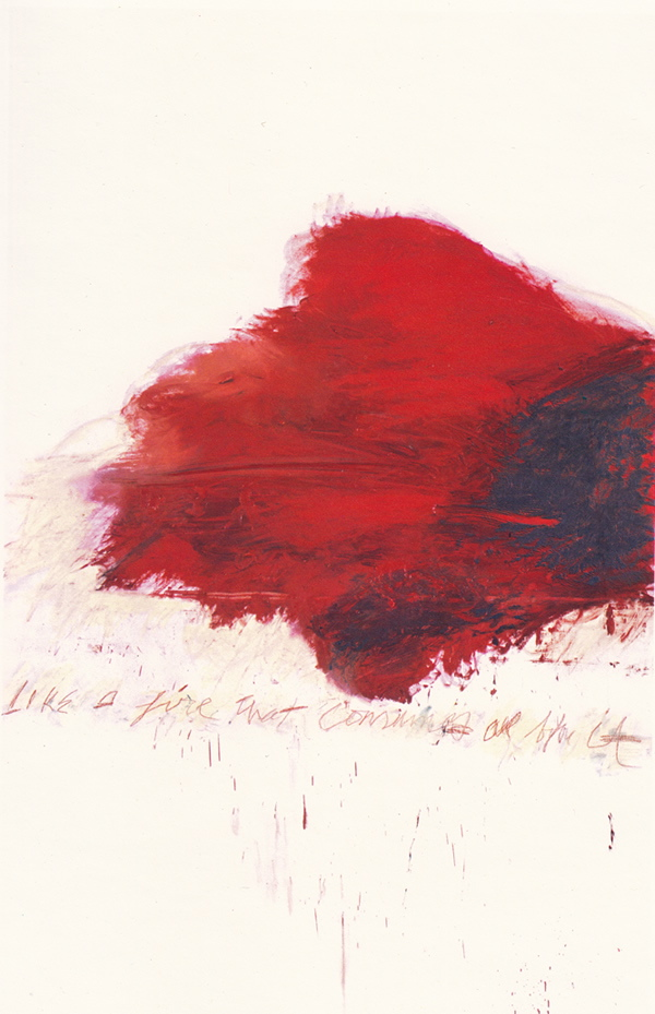 "Cy Twombly ""The Fire that Consumes All Before It"", part of ""Fifty Days at Iliam"" (1977)"