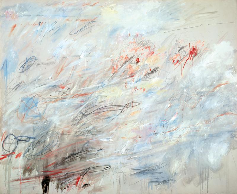 Cy Twombly. Sin título, 1964/84. Crayón, pastel y grafito sobre tela,204.5 × 249.6 cm