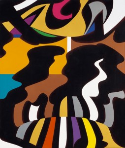 """Polesello, """"Simún"""" ,2004, acrílico sobre tela, 181 x 151 cm."""