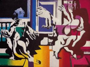 """Jorge de La Vega, 1966, """"Plexiglas Family"""", 30 x 41 cm"""