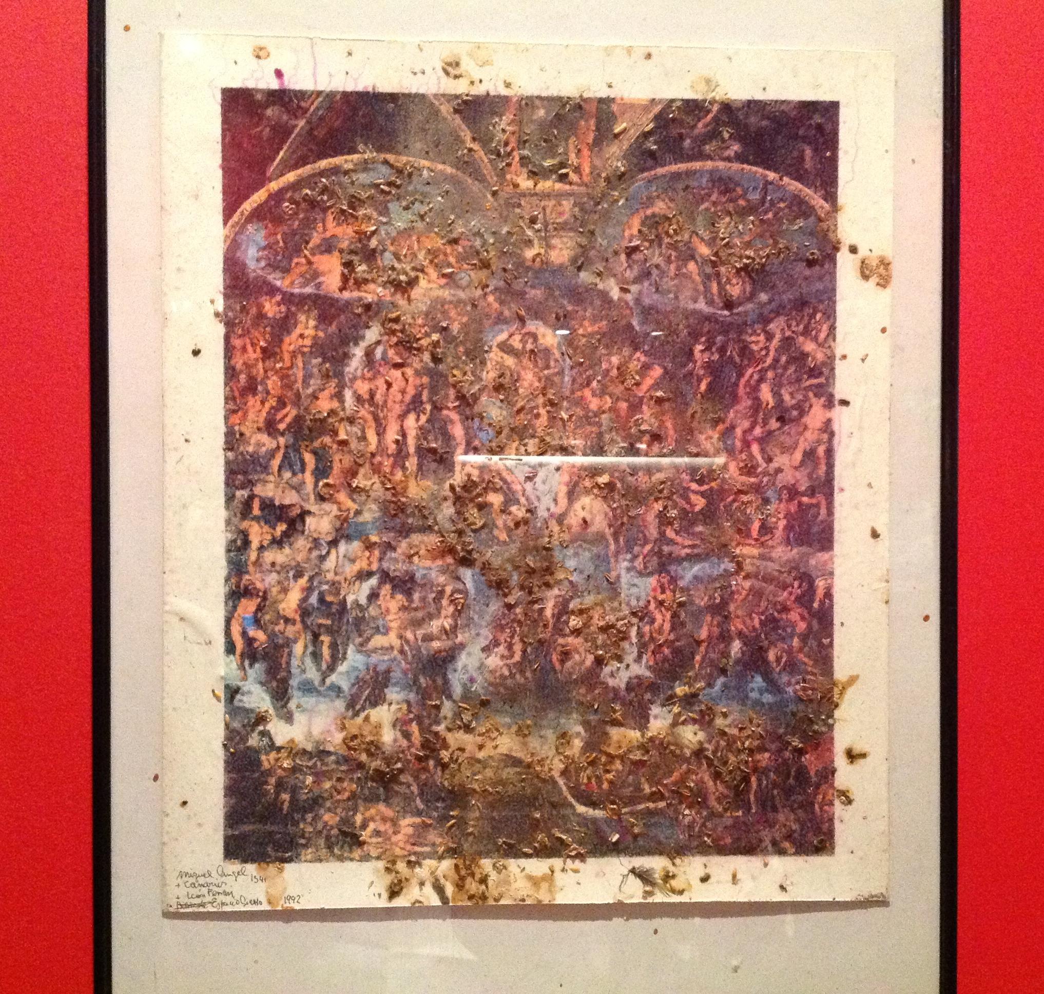 Grupo Etcétera y León Ferrari. Una obra de esta serie estuvo expuesta en ArteBA este año en el stand de la galería Ruth Benzacar
