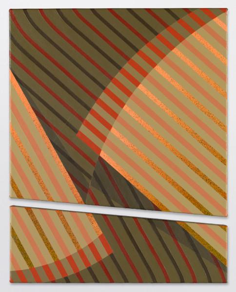 Exposición de la artista alemana Tomma Abts en la galería David Zwirner en NYC. Acrílico sobre tela, 48 x 33 cm, 2014