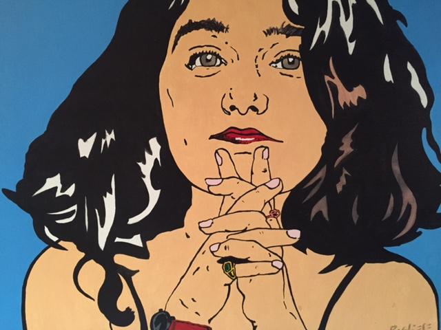Retrato de Mariela Ivanier por el artista Augusto Pugliese