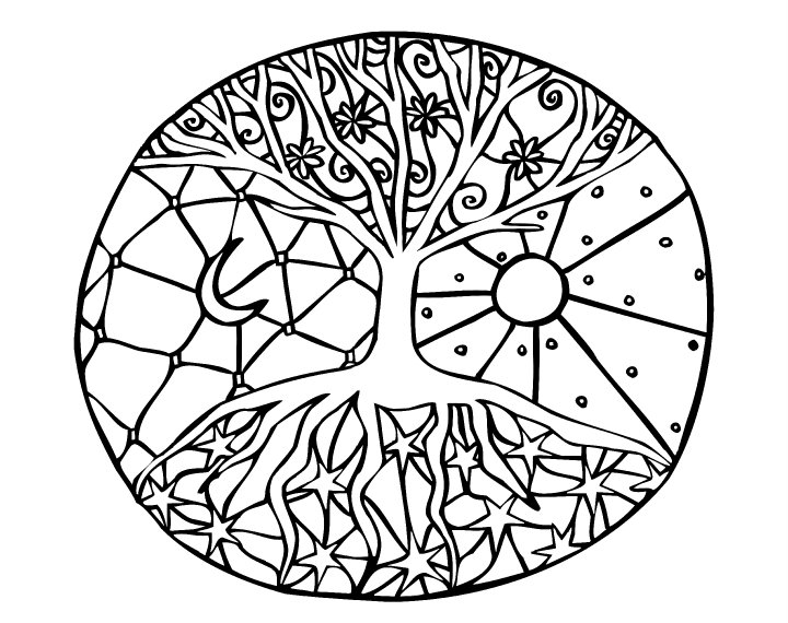 Colouring in pictures besides Mandala besides Mandalas Para Colorear Dibujos Imprimir Pintar moreover Halloween Coloring Page To Print as well Noel Simple Renne Coloriage 16147. on simple mandala coloring pages