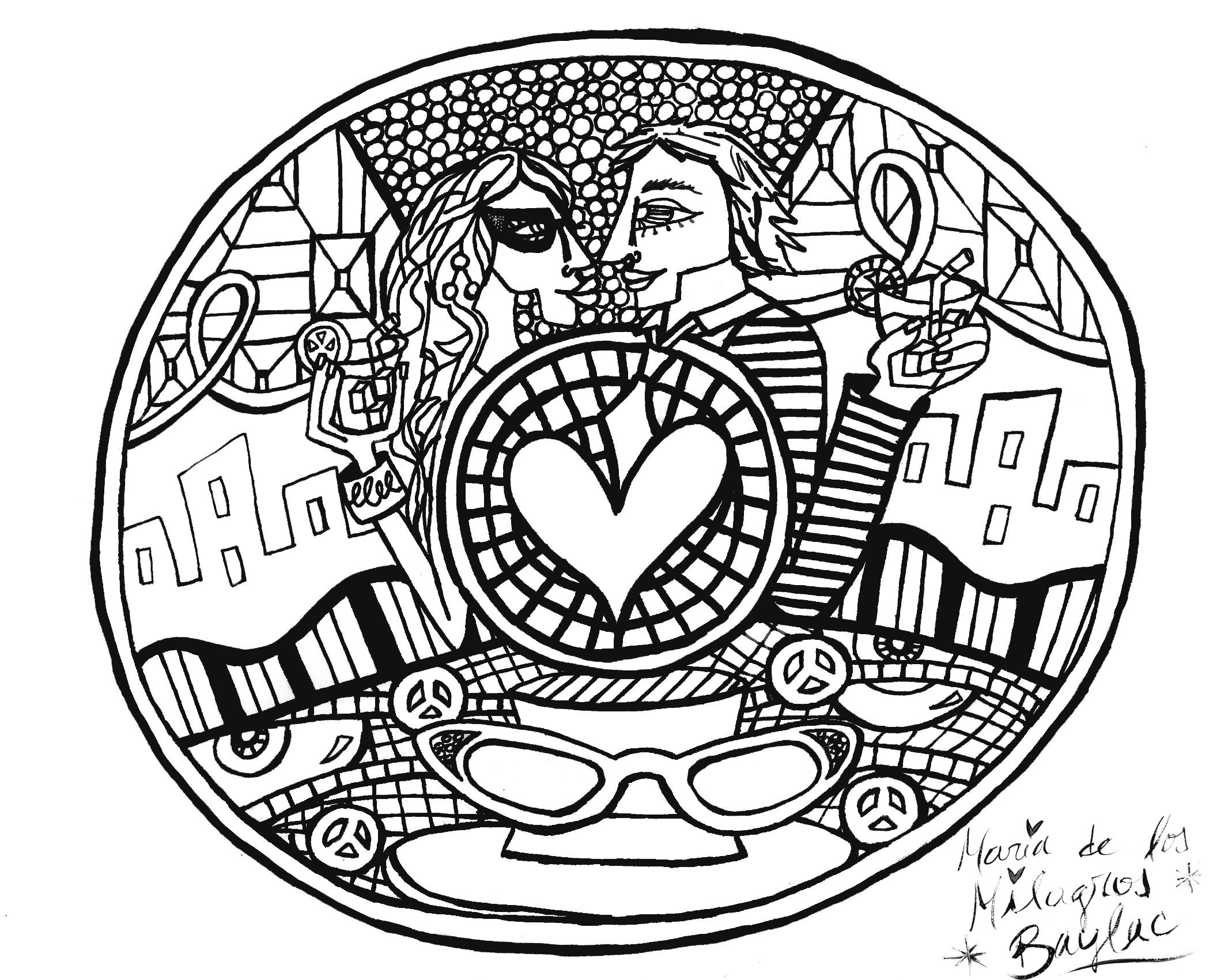 Dibujo De Mandala 11 Para Pintar Y Colorear En Línea: #ColoresDeMilagros