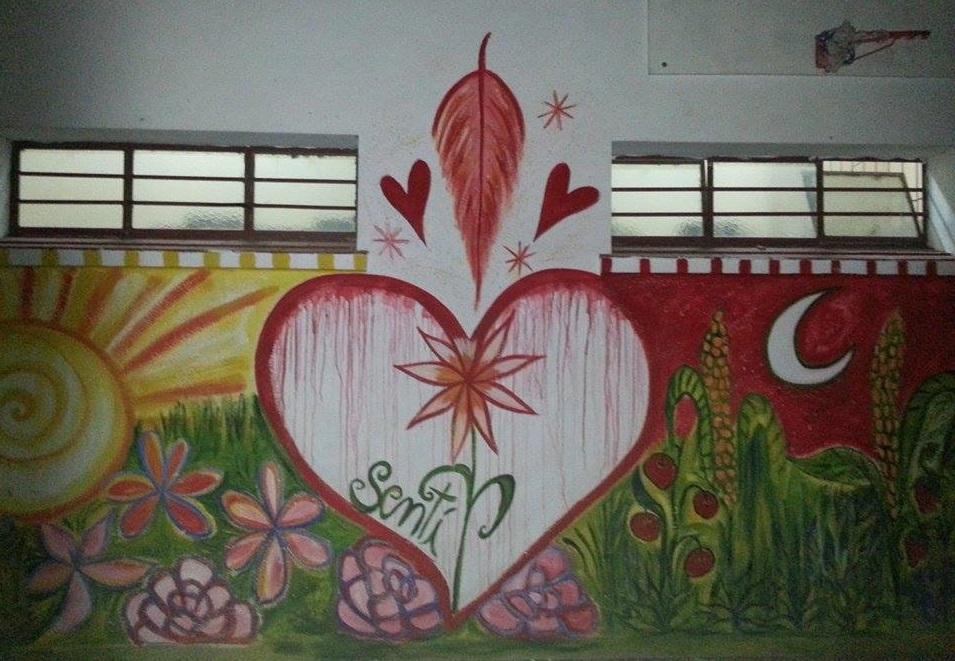 Sentir mural coloresdemilagros for Como pintar un mural