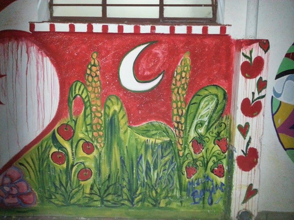 Sentir mural coloresdemilagros - Pintar mural en pared ...
