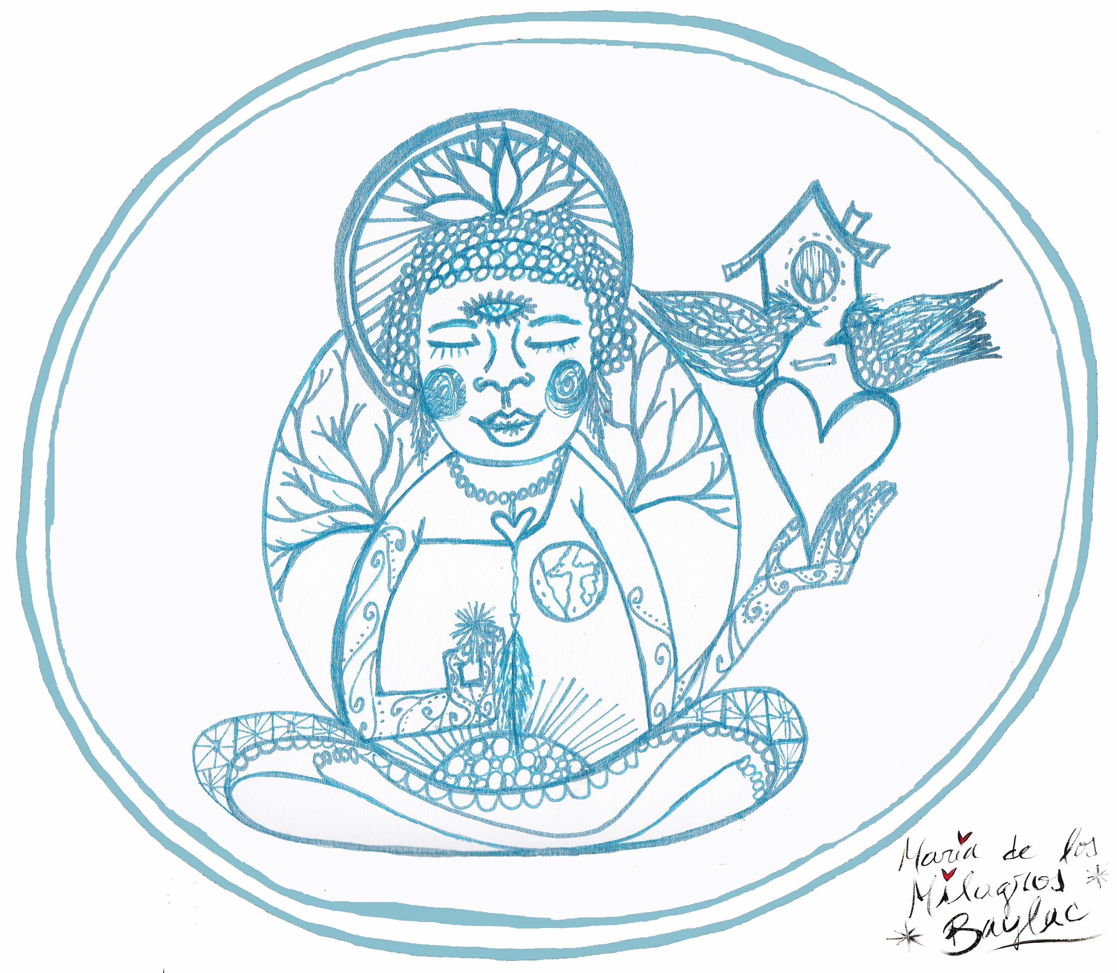 Mandala para colorear ~ #ColoresDeMilagros ~ Infobae.com