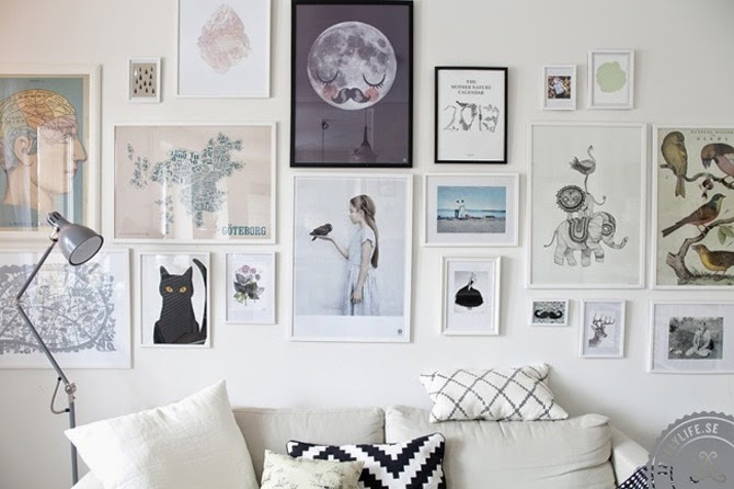 Vintage decoideas - Decorar pared con cuadros ...