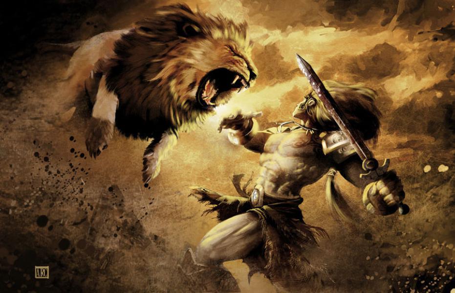 Heracles mata al León de Nemea, que dará identidad al signo de Leo.