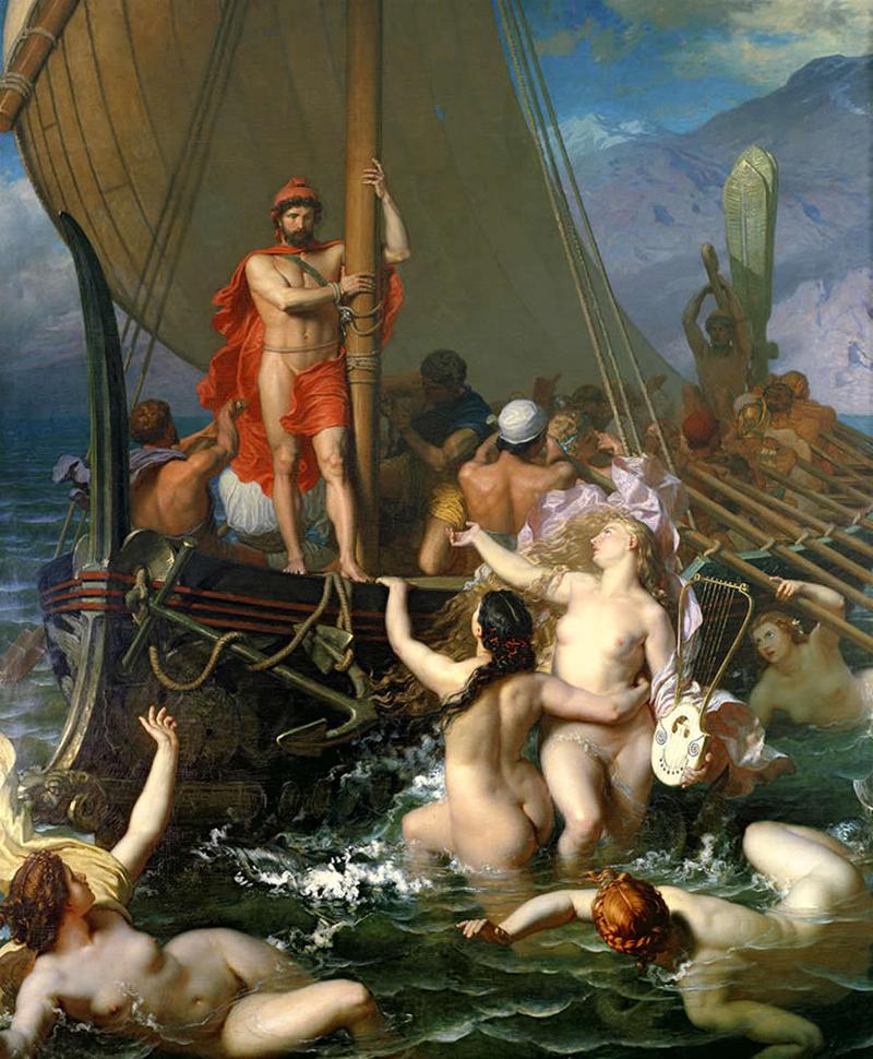 El periplo acuático de Odiseo representa a Acuario.