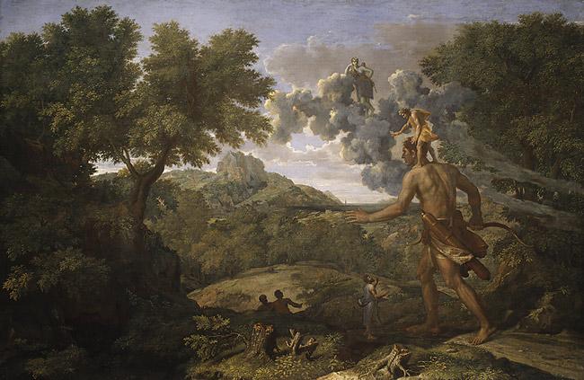 Orión, el gigante que cazaba en los bosques y que murió picado por un escorpión cuando intentaba violar a Àrtemis