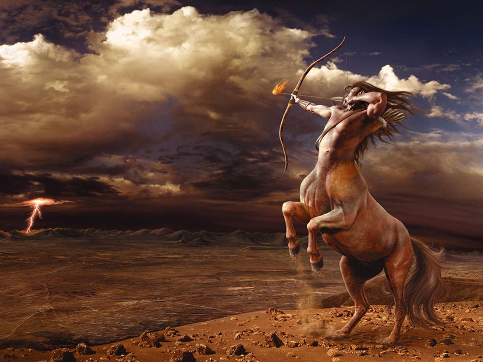 Sagitario está representado por el Centauro, hombres con extremidades de caballo.