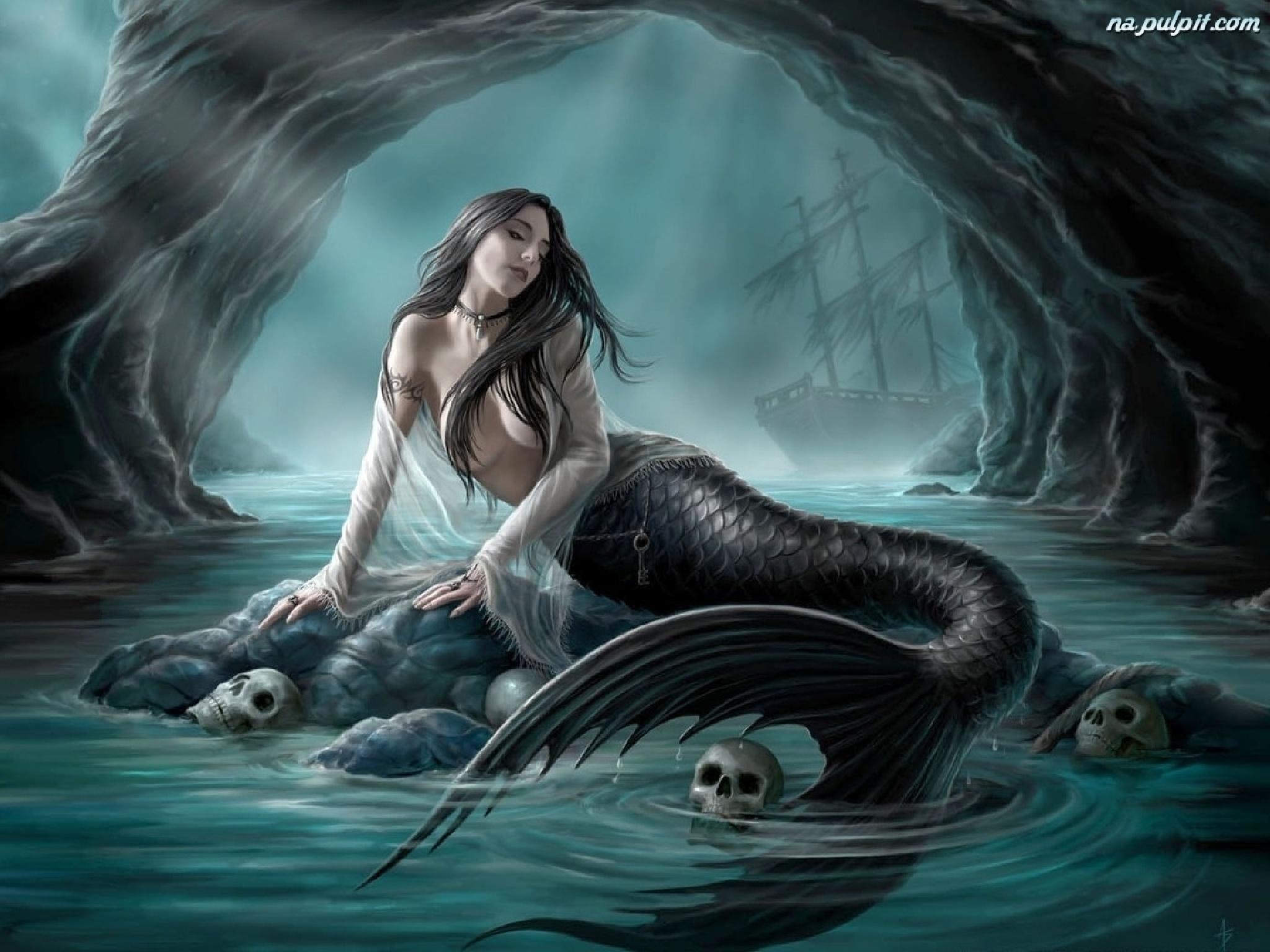 Las Sirenas remiten a Piscis en una de las versiones. La otra está relacionada con la metamorfosis de Afrodita y Eros.