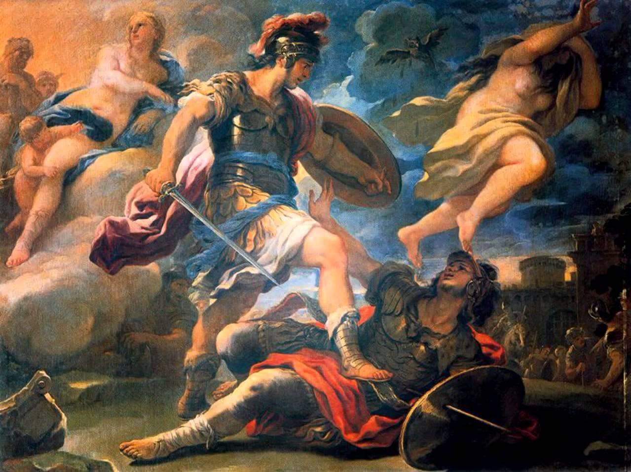 Eneas mata a Turno y despejará su camino para  cimentar la futura Roma