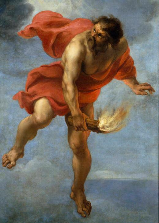 En la mitología griega, Prometeo es la personificación de la evolución del hombre