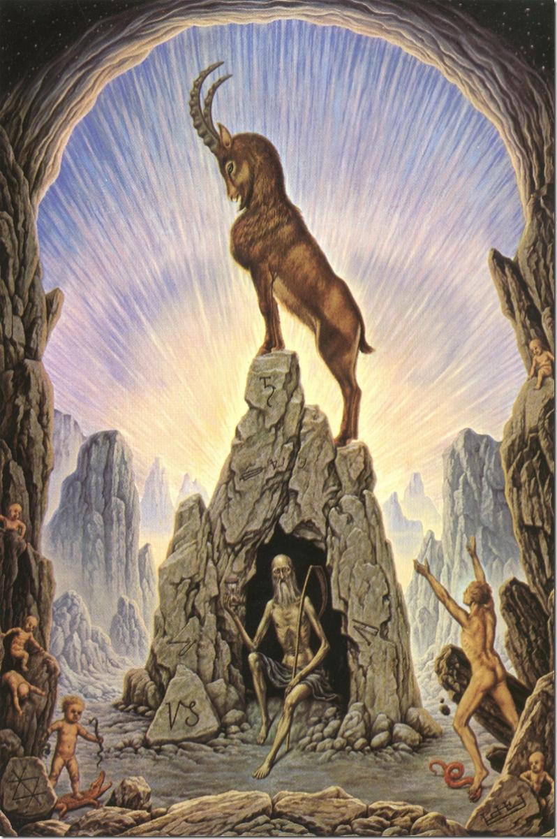 La célebre cabra que alimentó a Zeus es la imagen del signo de Capricornio. Mitólogos discuten si era Amaltea o Aix.