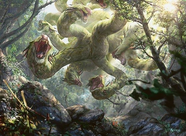 La Hidra de Lerna y sus diez cabezas que renacían si eran cortadas