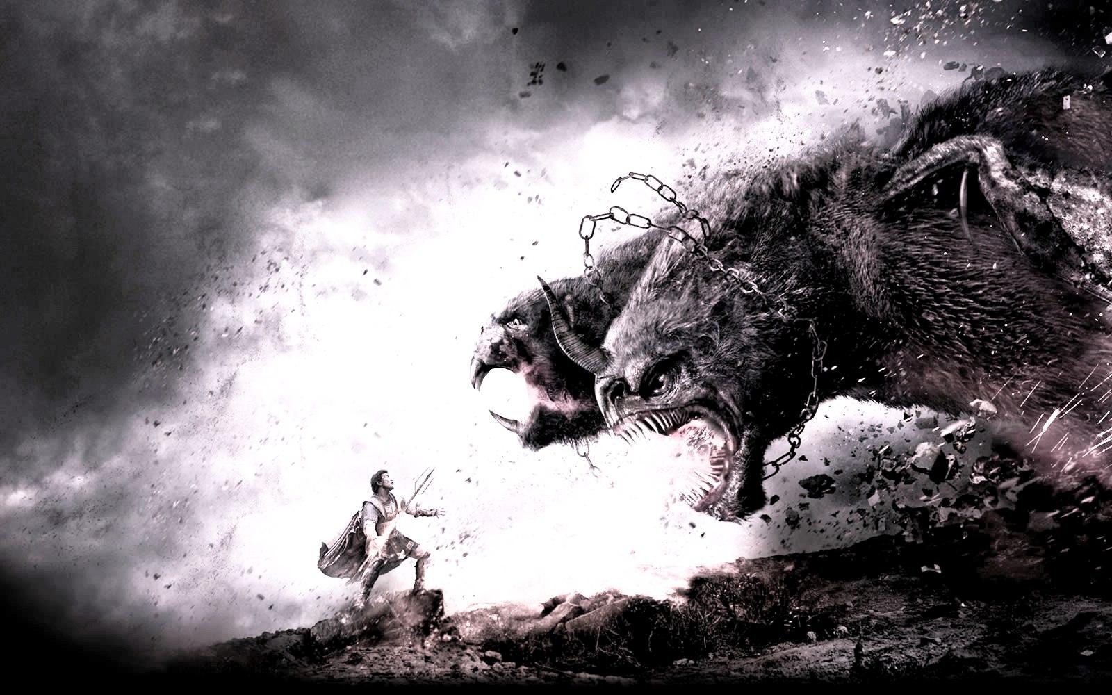 """La Quimera fue muerta por Belerofontes. En Furia de Titanes 2, los directores la """"convocaron"""" para atacar a Perseo."""