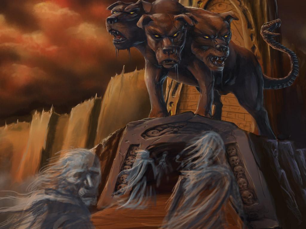 Cerbero era el perro de Hades y custodiaba que los vivos no entraran y que los muertos no salieran del Inframundo