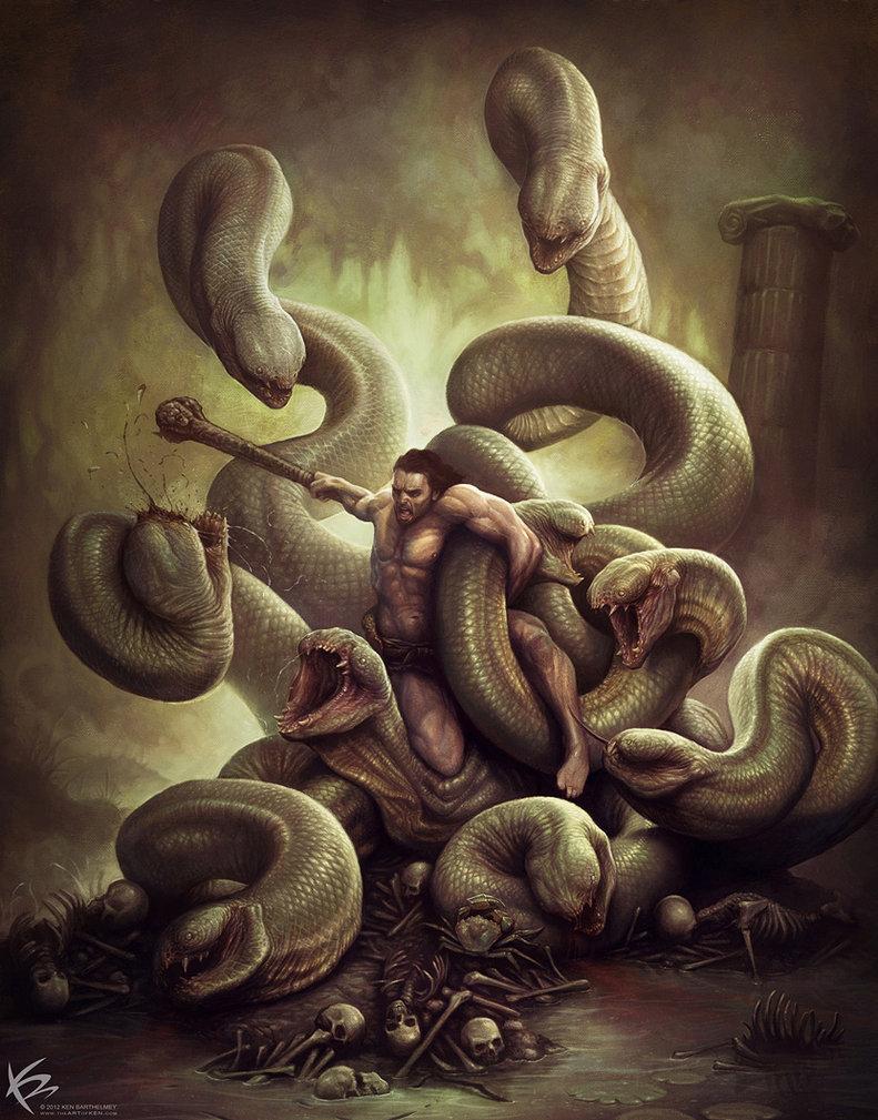 Heracles matando a la Hidra de Lerna