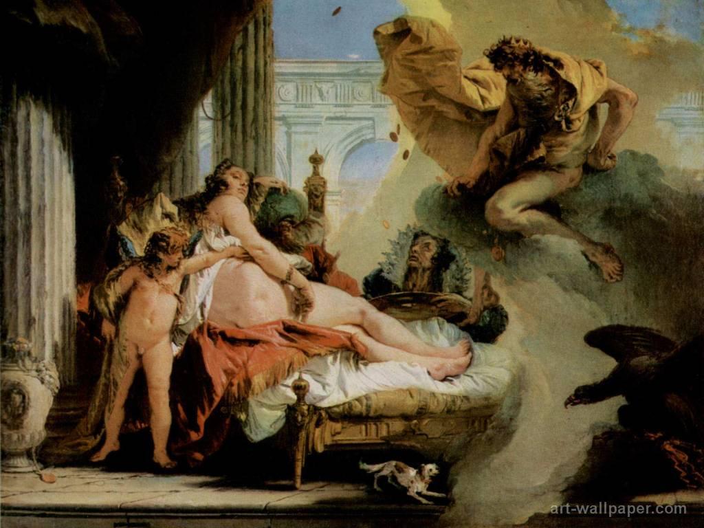 Zeus se introduce en los aposentos de Dánae y la viola. De su unión nacerá Perseo.