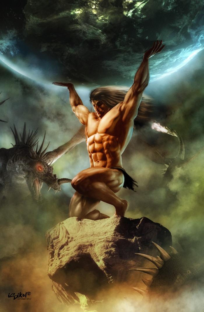 Luego de la derrota de los Titanes, Atlas fue condenado por Zeus