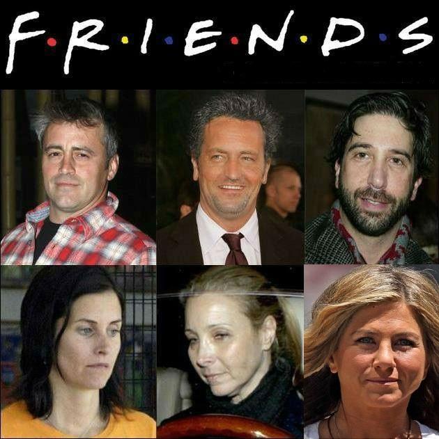 los protagonistas de friends: