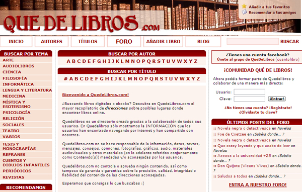 Libros gratis en Quedelibros