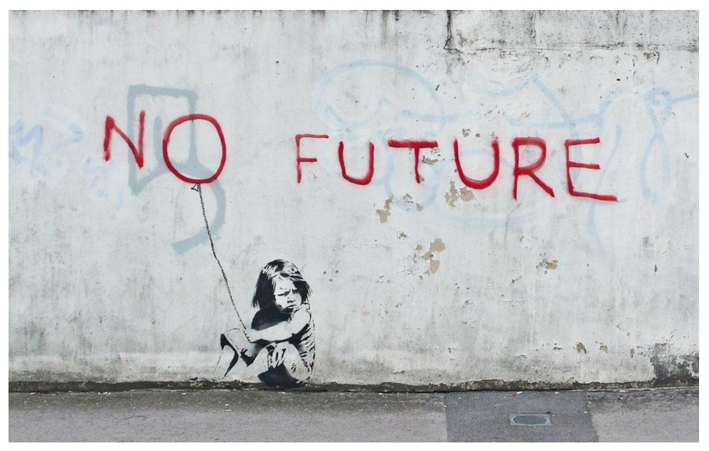 Banksy 5 No Future Las 20 mejores obras de Banksy