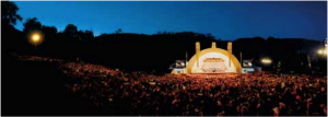 Hollywood Bowl al anochecer